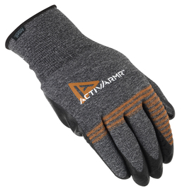 Ansell Size 9 ActivArmr® 15 Gauge And Light Weight Foam Nitrile Work Gloves With Black And Gray Nylon Liner And Knit Wrist