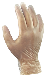 Ansell Medium Clear Dura-Touch® 5 mil PVC Disposable Gloves