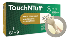 Ansell Small White TouchNTuff® 5 mil Latex Disposable Gloves