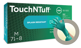 Ansell Medium Blue TouchNTuff® 5 mil Nitrile Disposable Gloves