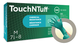 Ansell Size 6.5 Teal TouchNTuff® 4.7 mil Nitrile Gloves