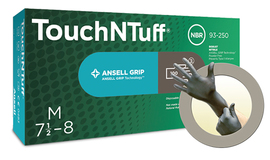 Ansell Large Gray TouchNTuff® 5.5 mil Nitrile Disposable Gloves