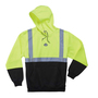 Ergodyne Medium Lime GloWear® 8293 Polyester/Fleece Pullover Sweatshirt