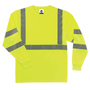 Ergodyne Medium Lime GloWear® 8391 Polyester Pullover T-Shirt