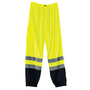 Ergodyne Small - Medium Hi-Viz Green And Black GloWear® 8910BK Polyester Mesh Standard Pants