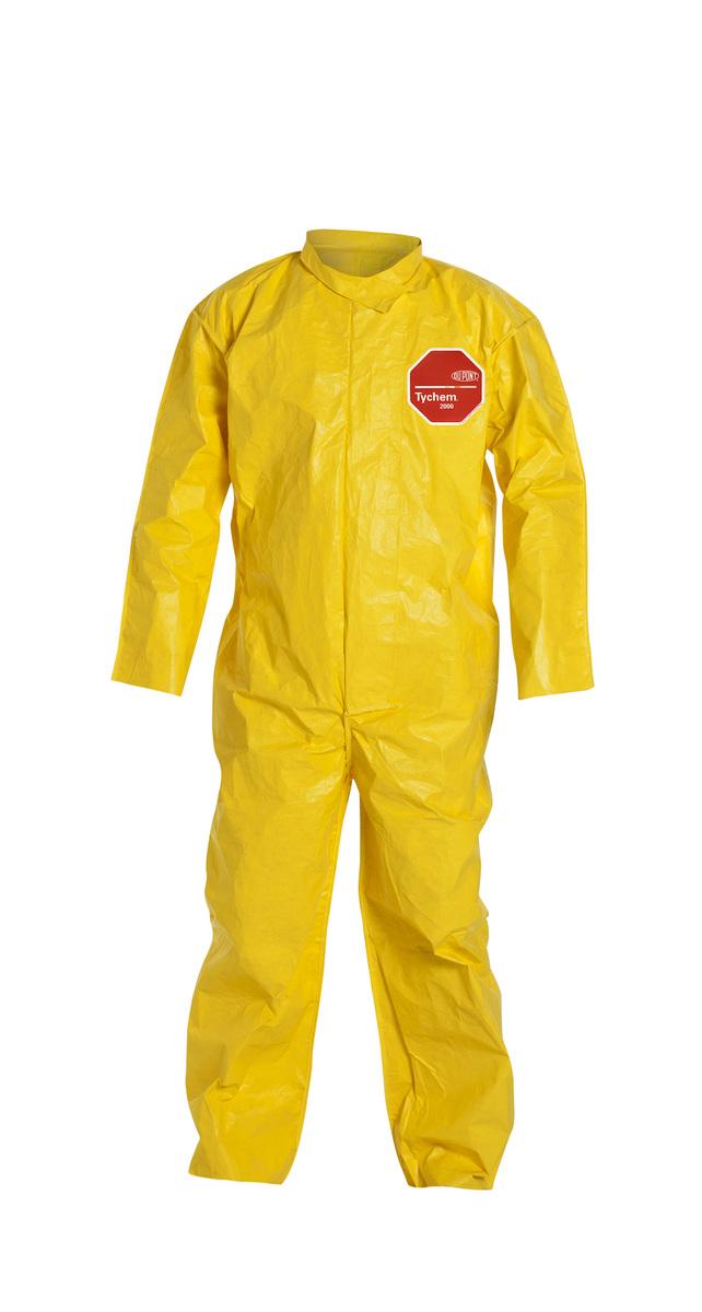 DuPont™ Medium Yellow Tychem® 2000 10 mil Polyethylene Coated Tyvek® Bib Overalls