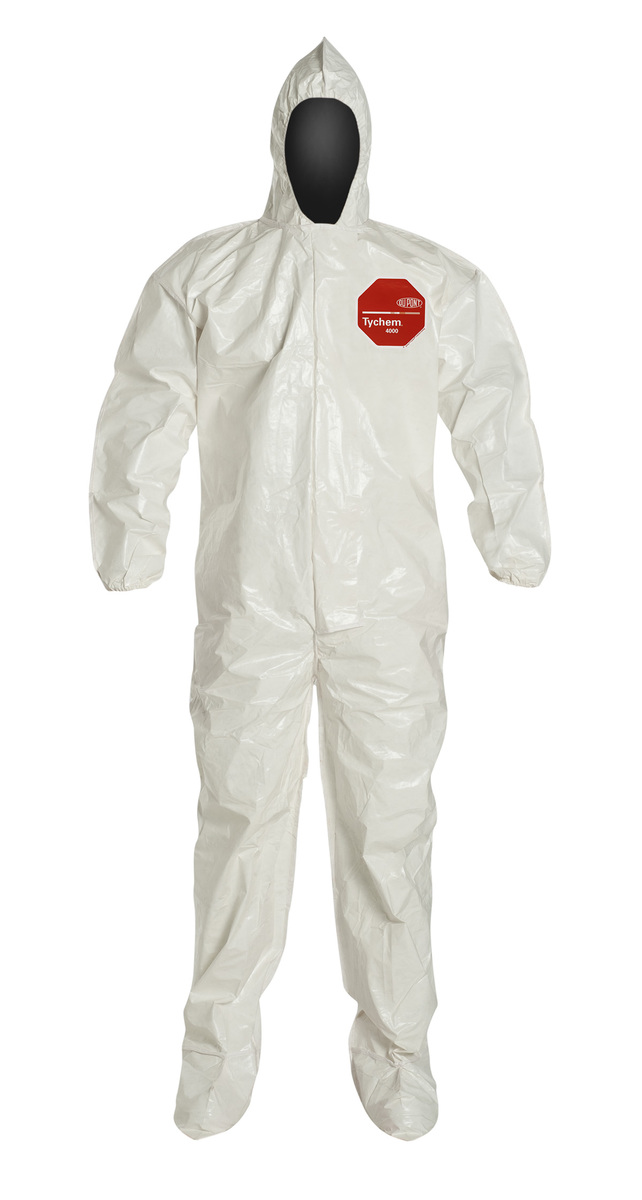 DuPont™ Large White Tychem® 4000 12 mil Saranex Tyvek® Bib Pants/Overalls