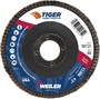 Weiler® TIGer® Saber Tooth 4 1/2 X 7/8 60 Grit Type 27 Flap Disc