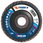 Weiler® TIGer® X 4 1/2 X 7/8 80 Grit Type 27 Flap Disc