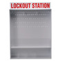 Brady® Red/White Polystyrene Lockout Station