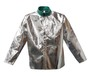 Stanco Safety Products™ 2X Silver Aluminized PFR Rayon Heat Resistant Jacket With Snap Front Closure