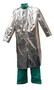 Stanco Safety Products™ X-Large Silver Aluminized PFR Rayon Heat Resistant Coat With Snap Front Closure