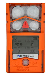 Industrial Scientific Ventis Pro4 Portable Carbon Monoxide, Hydrogen Sulfide, Oxygen, And Pentane Monitor (LENS™ Wireless Communication)