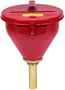 Justrite® 2.6 Gallon Red Galvanized Steel Large Safety Drum Funnel With Self-Closing Cover And 6