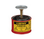 Justrite™ 1 Pint Red Galvanized Steel Safety Plunger Can With 2 3/4