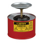 Justrite™ 2 Quart Red Galvanized Steel Safety Plunger Can With 5