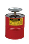 Justrite™ 1 Gallon Red Galvanized Steel Safety Plunger Can With 5