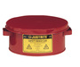Justrite™ 1 Gallon Red Galvanized Steel Safety Bench Can With 7-1/2