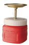 Justrite™ 1 Quart Red HDPE Non-Metallic Safety Plunger Can With 5