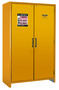 Justrite™ 45 Gallon Yellow Steel EN Fammable Safety Cabinet With (3) Adjustable Shelves And (2) Self-Closing Doors
