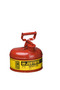 Justrite™ 1 Gallon Red Galvanized Steel Type | Safety Can With 3 1/2