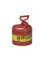 Justrite™ 2 Gallon Red Galvanized Steel Type | Safety Can With 3 1/2