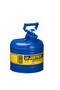 Justrite® 2 Gallon Blue Galvanized Steel Type I Safety Can With 3 1/2