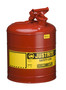 Justrite™ 5 Gallon Red Galvanized Steel Type | Safety Can With 3 1/2