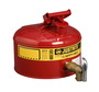 Justrite® 2 1/2 Gallon Red Galvanized Steel Type I Laboratory Safety Can With Stainless Steel Flame Arrester And 08902 Bottom Faucet (For Flammables)