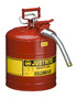 Justrite™ 5 Gallon Red AccuFlow™ Galvanized Steel Type II Vented Safety Can With Stainless Steel Flame Arrester And 1