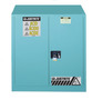 Justrite™ 30 Gallon Blue Sure-Grip® EX 18 Gauge Cold Rolled Steel Safety Cabinet With (2) Self-Closing Doors And (1) Adjustable Shelf (For Corrosive Acids)