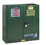 Justrite™ 30 Gallon Green Sure-Grip® EX 18 Gauge Cold Rolled Steel Safety Cabinet With (2) Self-Closing Doors And (1) Adjustable Shelf (For Pesticides)