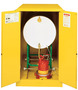 Justrite™ 55 Gallon Yellow Sure-Grip® EX 18 Gauge Cold Rolled Steel Horizontal Drum Safety Cabinet With (2) Manual Close Doors And Cradle Track (For Flammable Liquids)