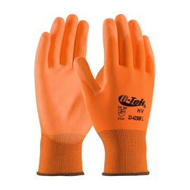 Protective Industrial Products Small G-Tek® GP™ Polyurethane Work Gloves With Nylon Liner And Knit Wrist