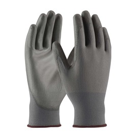 PIP® Medium  13 Gauge Gray Nitrile Palm And Finger Coated Work Gloves With Polyester Liner And Continuous Knit Wrist