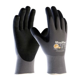 PIP® Large MaxiFlex® Endurance by ATG® Black Nitrile Palm And Finger Coated Work Gloves With Nylon And Lycra® Liner And Continuous Knit Wrist