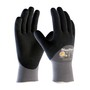 Protective Industrial Products® Large MaxiFlex® Endurance by ATG® Black Nitrile Palm, Finger And Knuckles Coated Work Gloves With Nylon And Lycra® Liner And Continuous Knit Wrist