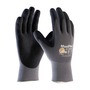Protective Industrial Products® Small MaxiFlex® Ultimate by ATG® Black Latex Palm And Finger Coated Work Gloves With Nylon Liner And Continuous Knit Wrist