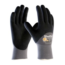 Protective Industrial Products Size 2X-Small ATG® 15 Gauge Nitrile Work Gloves With Nylon Liner And Continuous Knit Wrist