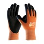 PIP® Large MaxiFlex® Ultimate by ATG® Black Nitrile Palm And Finger Coated Work Gloves With Nylon Liner And Continuous Knit Wrist