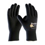 PIP® Medium MaxiFlex® Endurance by ATG® Black Latex Full Coated Work Gloves With Nylon And Lycra® Liner And Continuous Knit Wrist