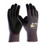 PIP® Medium MaxiDry® By ATG® Black Nitrile Palm And Finger Coated Work Gloves With Nylon Liner And Continuous Knit Wrist