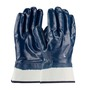 PIP® Medium ArmorTuff® Standard Blue Nitrile Full Coated Work Gloves With Cotton Liner And Safety Cuff