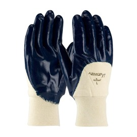 Protective Industrial Products Large ArmorTuff® XT Standard Nitrile Work Gloves With Cotton Liner And Knit Wrist