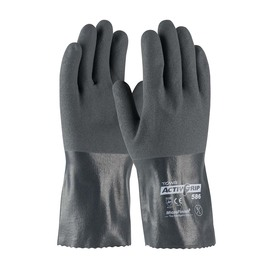 Protective Industrial Products Small ActivGrip™ 15 Gauge Nitrile Work Gloves With Cotton Liner And Open Cuff