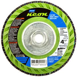 "Norton® Neon® 4 1/2"" X 5/8"" - 11 40 Grit Type 27 Flat Flap Disc | Tuggl"