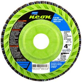 "Norton® Neon® 4 1/2"" X 7/8"" 40 Grit Type 27 Flat Flap Disc | Tuggl"