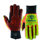 West Chester Large Black R2 Evolution Synthetic Leather Full Finger Mechanics Gloves With Neoprene Cuff