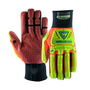 West Chester Medium Black R2 Evolution Synthetic Leather Full Finger Mechanics Gloves With Neoprene Cuff