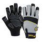 West Chester Large Black Pro Series® 3x2® Leather Full Finger Mechanics Gloves With Hook And Loop Cuff